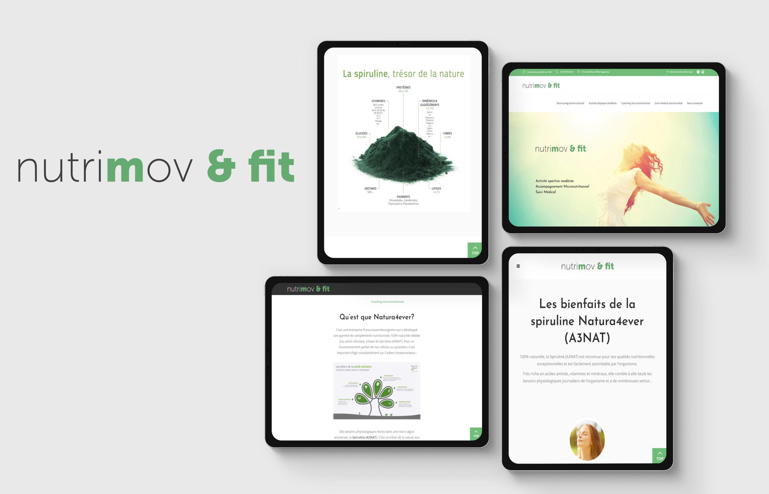 Website Nutrimov et Fit